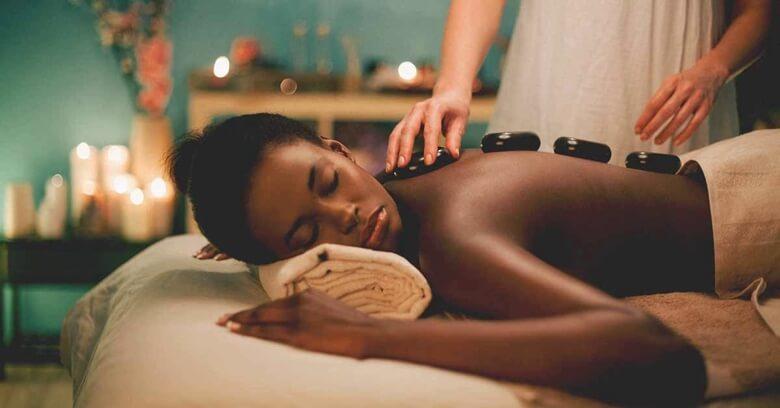 The hot stone massage